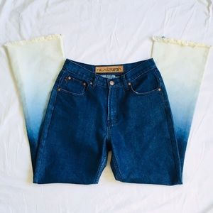 Nick and Sarah flare/boot cut jeans with gradient.